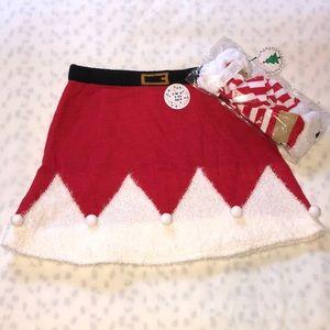 Mrs. Clause Skirt & Knee-High Socks